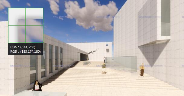 现代大型简约体块穿插组合式清水混凝土城市文化中心建筑群规划博物展览馆(2)