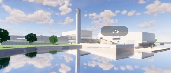 现代大型简约体块穿插组合式清水混凝土城市文化中心建筑群规划博物展览馆(5)