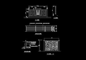 详细的经典栏杆素材cad施工图