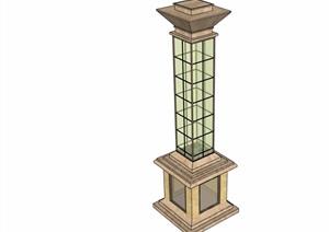 欧式风格灯具灯柱设计SU(草图大师)模型
