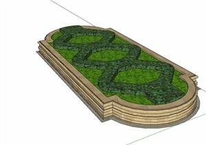 详细的欧式种植池设计SU(草图大师)模型