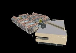 现代商业及欧式住宅楼设计SU(草图大师)模型