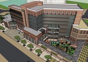某详细的酒店建筑楼设计SU(草图大师)模型