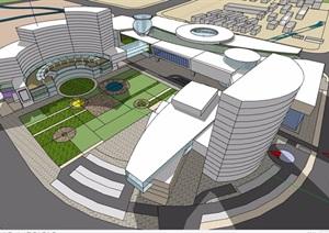 详细的完整概念酒店设计SU(草图大师)模型