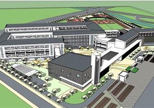某详细完整的学校教育建筑楼设计SU(草图大师)模型