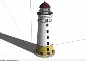 欧式风格电台塔素材设计SU(草图大师)模型