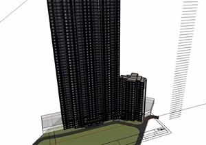 某详细的新古典住宅楼设计SU(草图大师)模型