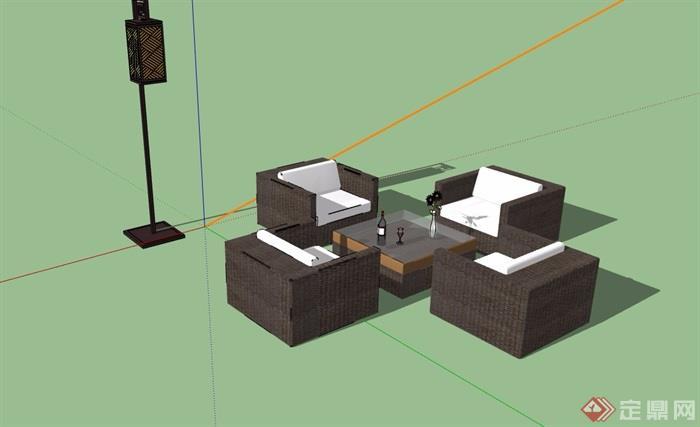 详细的桌椅家具素材设计su模型