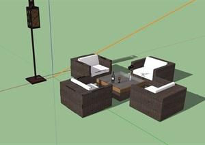 详细的桌椅家具素材设计SU(草图大师)模型
