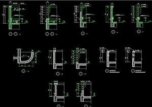墙身、底柱、窗户详图