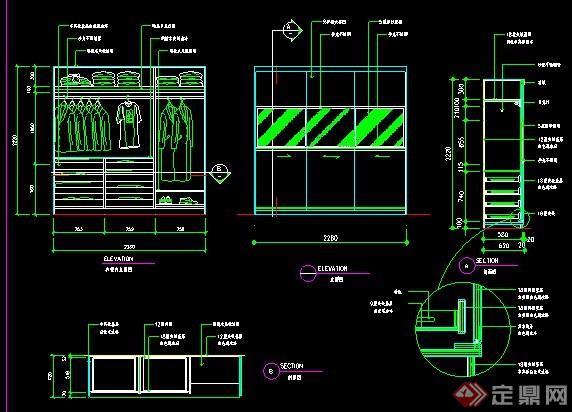 衣柜,書柜,玄關柜設計圖紙圖片