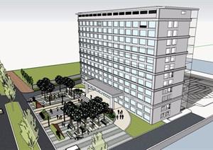 详细的医院建筑楼设计SU(草图大师)模型