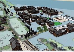 某村庄建筑设计SU(草图大师)模型
