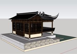 戏台古典中式建筑SU(草图大师)模型