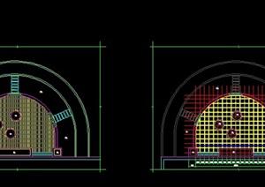 實木平臺CAD全套施工圖