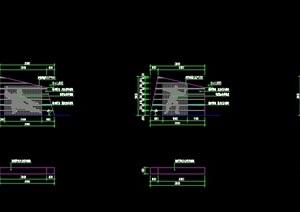 现代风格详细CAD景墙