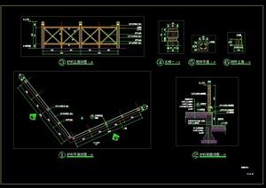 木护栏详细CAD施工图