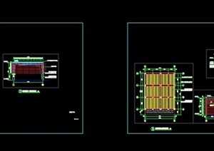 现代风格玻璃顶花架CAD施工图