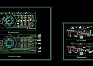 小區主入臺階CAD施工圖