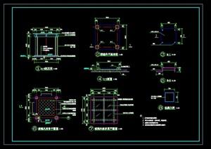 玻璃頂四角亭CAD施工圖