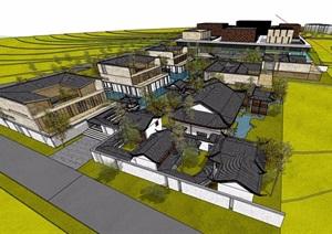 某混搭研究中心详细的建筑设计SU(草图大师)模型