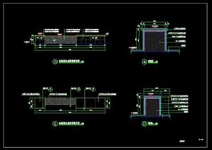 景觀長條休息凳CAD施工圖