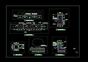 特色景觀樹池CAD施工圖
