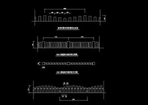 详细的木栏杆设计cad方案