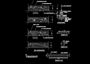 现代风格详细完整的栏杆设计cad施工图