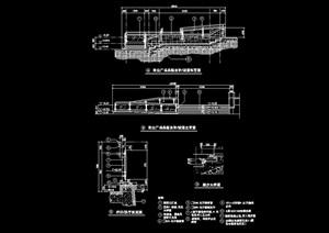 现代详细的栏杆围栏素材设计cad施工图