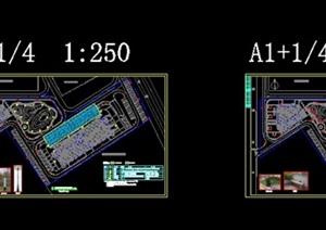 某详细完整的大学校园景观施工图