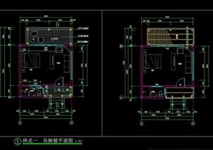 度假村吊脚楼景观CAD施工图设计