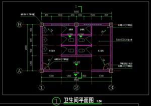 公园公厕CAD施工图设计