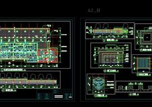 生态更衣、淋浴室CAD施工图设计
