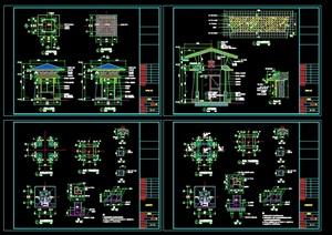 入口岗亭全套CAD施工图设计