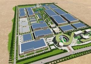 现代创意简约风大型生产科研基地产业园规划厂房设计