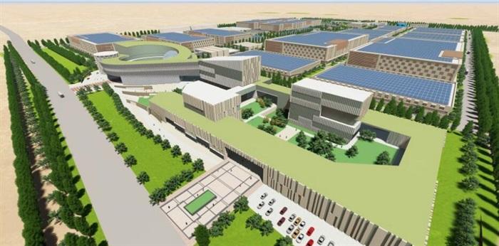现代创意简约风大型生产科研基地产业园规划厂房设计图片