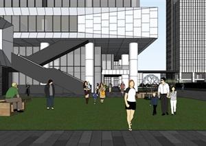 现代大型创业产业办公园区会议中心高层商务办公楼设计