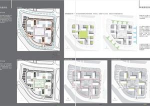 现代科技园技术科研教育中心办公文化产业园区规划建筑设计cad,高清效果图,分析文本