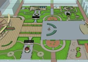 某人民公园SU(草图大师)模型方案