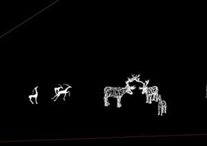 小品梅花鹿,造型鹿雕塑,景觀雕塑
