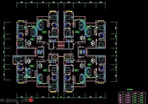 高层住宅户型平面图纸