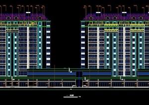 现代风格小高层住宅建筑图纸