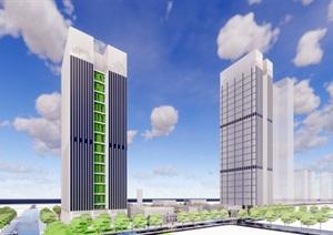 现代办公建筑设计 办公建筑SU(草图大师)模型合集2