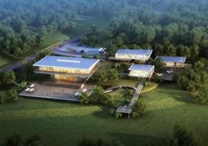 灾后重建规划展览馆(CAD SU(草图大师) 文本 PPT)