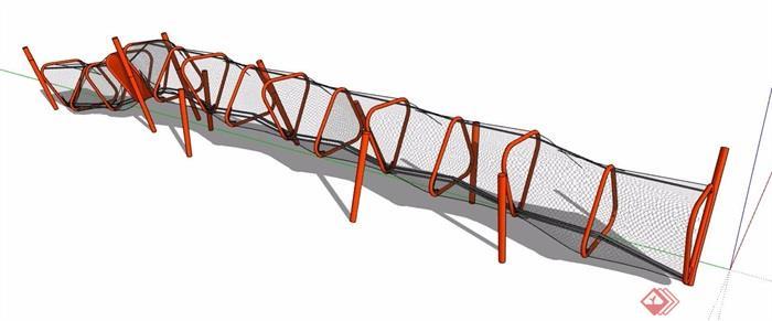 儿童攀爬网游乐设施su模型