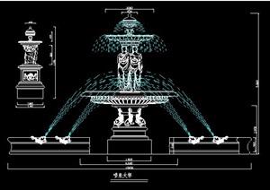 罗马柱、花钵柱、喷泉柱设计图