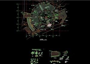 某中心广场景观设计cad施工图