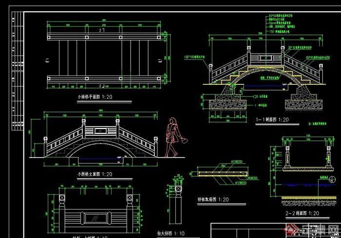中式小程序cad偏移详图cad拱桥施工批量图片