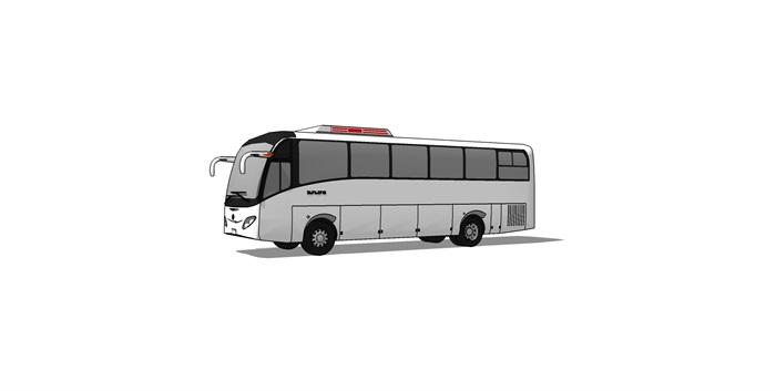 大客车大巴车精细SU模型(2)